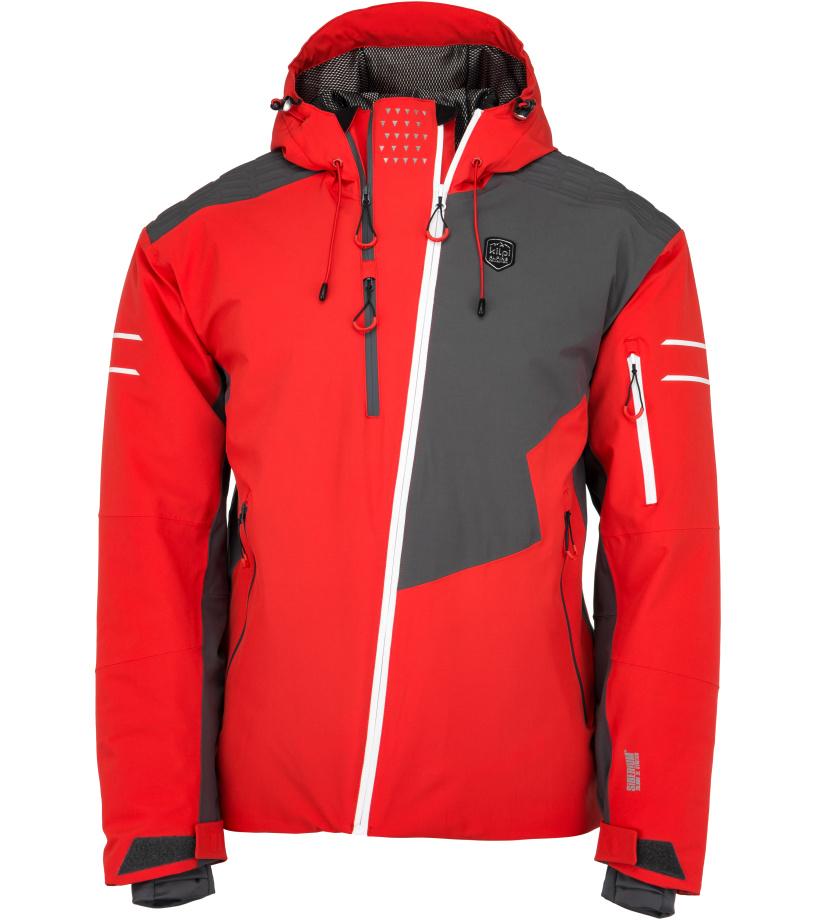 KILPI Pánská lyžařská bunda ASIMETRIX-M JM0120KIRED Červená