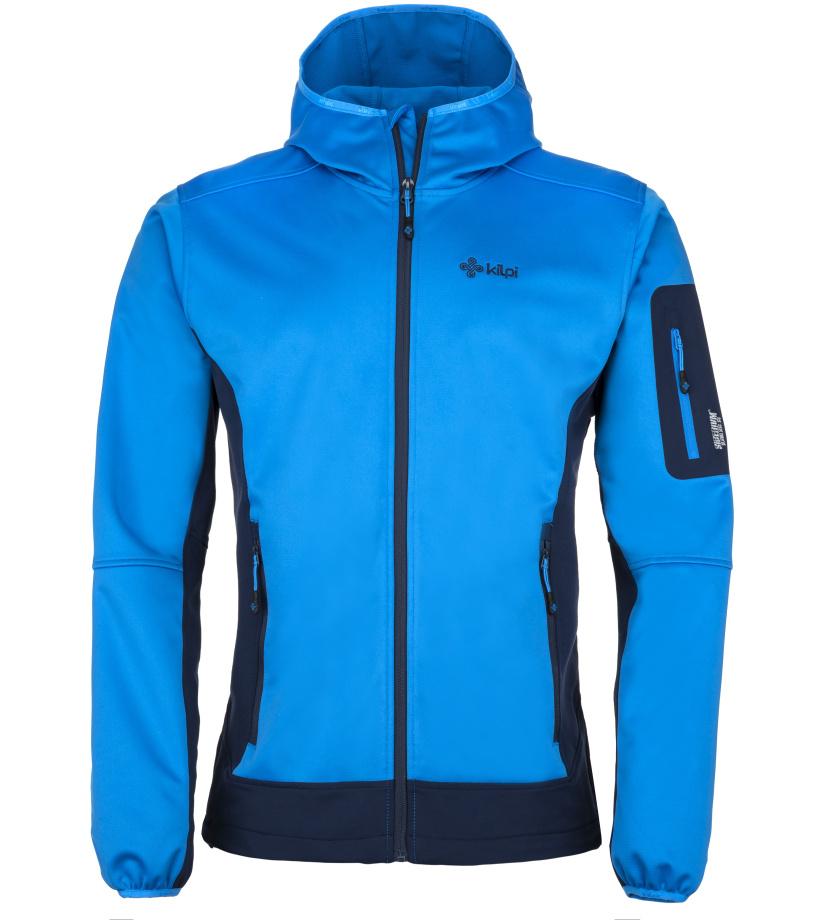 KILPI Pánská softshell bunda FORDINO-M JM0154KIBLU Modrá