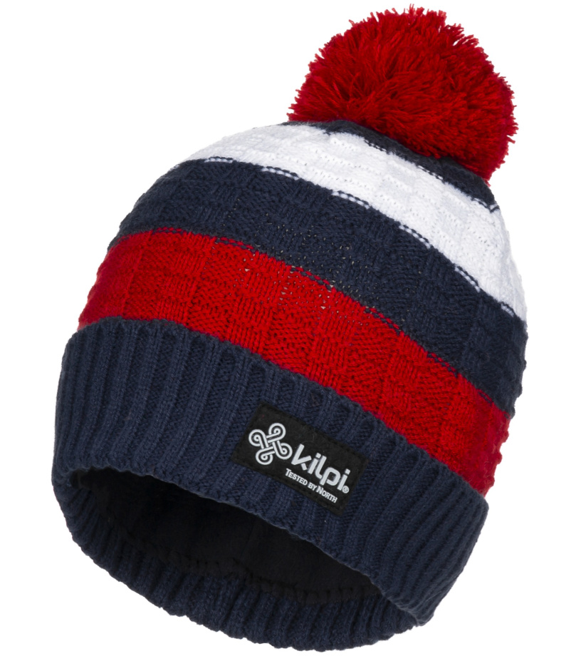 KILPI Pánská zimní čepice CURTIS-M JM0157KIRED Červená