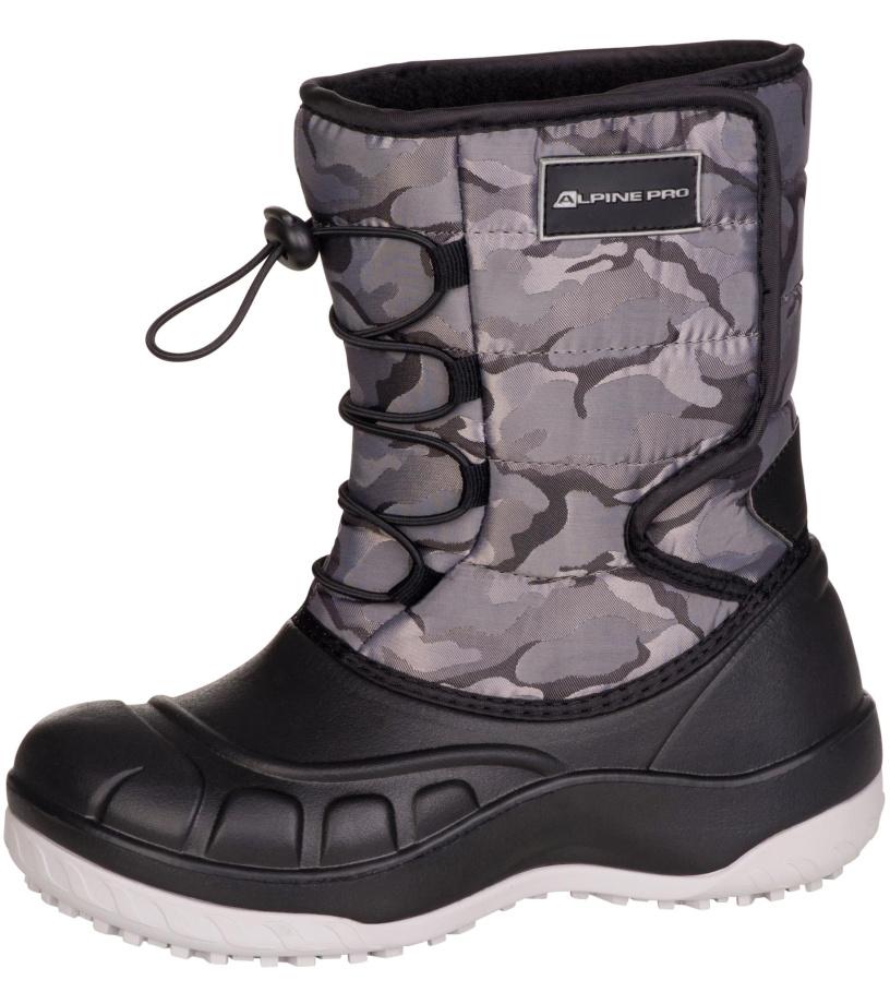 ALPINE PRO AMARO Dětská zimní obuv KBTM175779 tmavě šedá