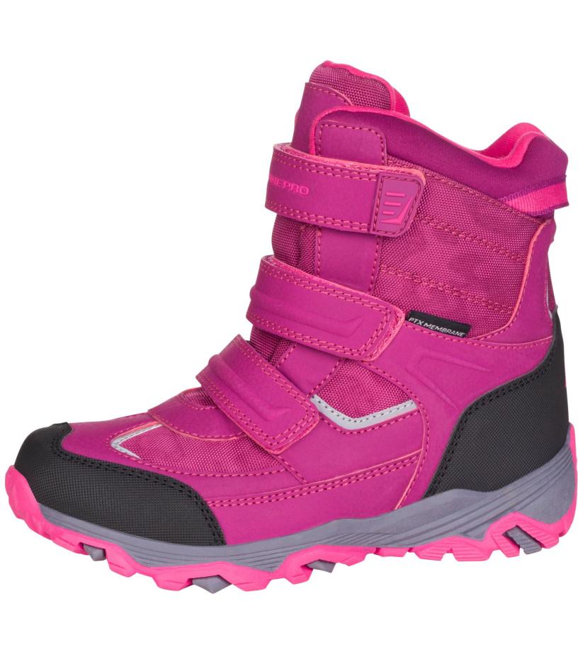 ALPINE PRO ACACIO Dětská zimní obuv KBTM178814 ostružinová