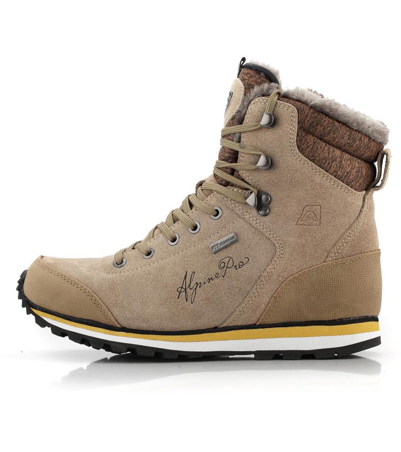ALPINE PRO XALINA Dámská zimní obuv LBTM143208 síra
