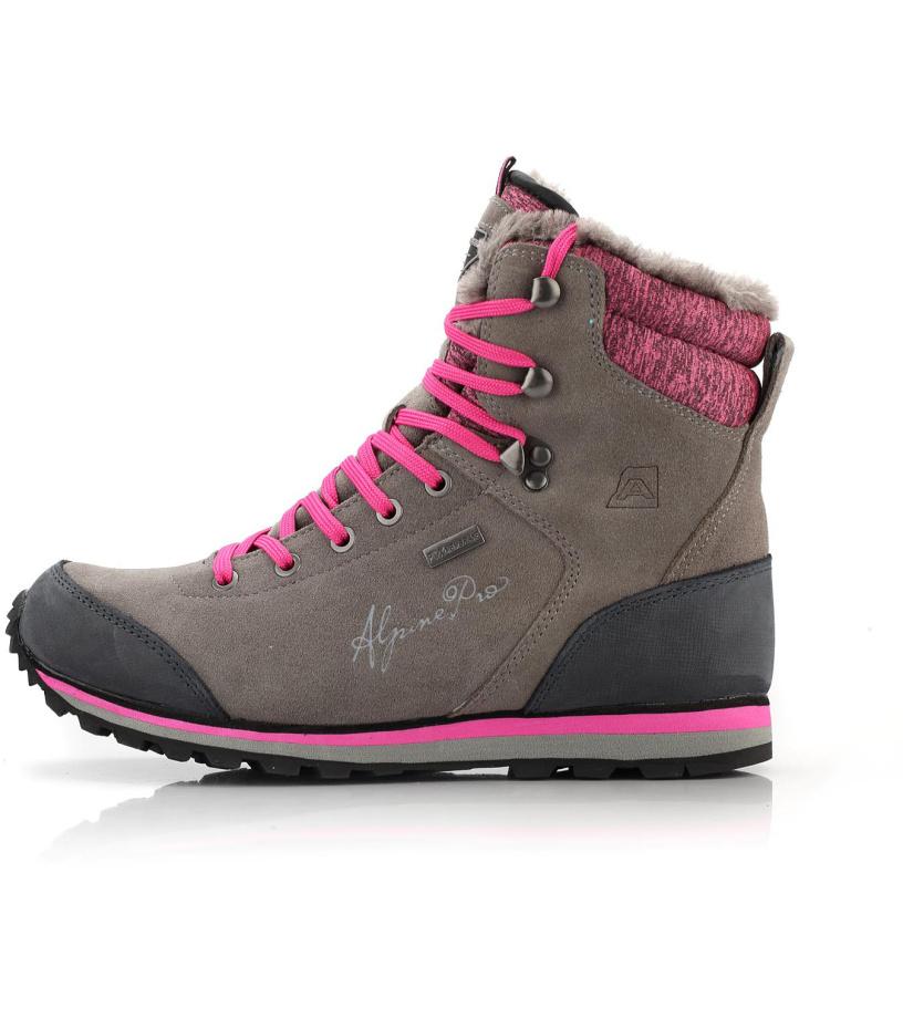 aa906d622e0 ALPINE PRO XALINA Dámská zimní obuv LBTM143779 tmavě šedá