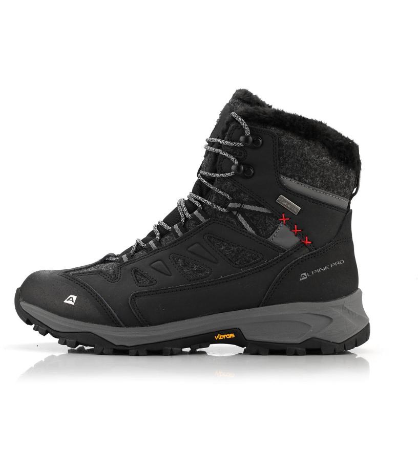 ALPINE PRO ALTAIR Pánská zimní obuv MBTM155990 černá 41