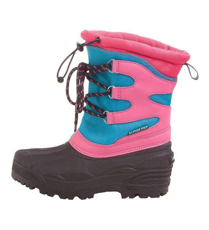 ALPINE PRO GERLACH KIDS` Dětská zimní obuv KBTB002443 malinová 33