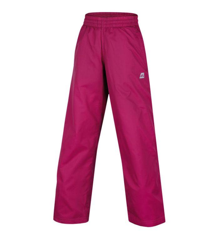 ALPINE PRO SESTO Dětské zateplené kalhoty KPAB006814 ostružinová 152-158