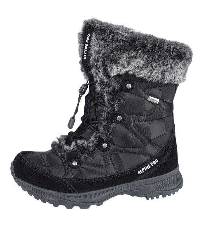 ALPINE PRO WINTER COUNTRY WM Dámská zimní obuv LBTB001990 černá 40