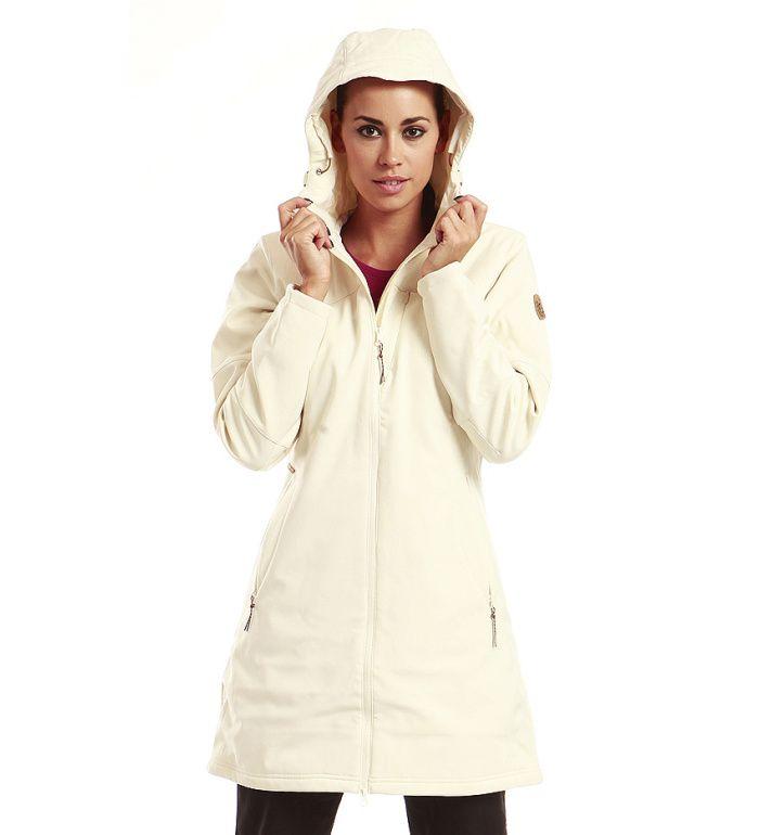 ALPINE PRO ASHERAH Dámský softshell kabát LCTB003002 krémová XL