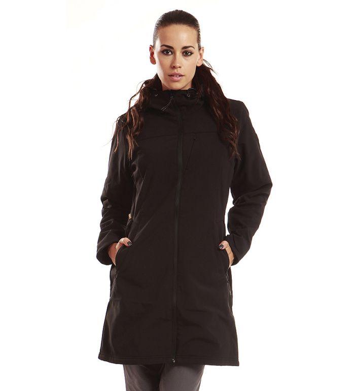ALPINE PRO ASHERAH Dámský softshell kabát LCTB003990PA černá XS