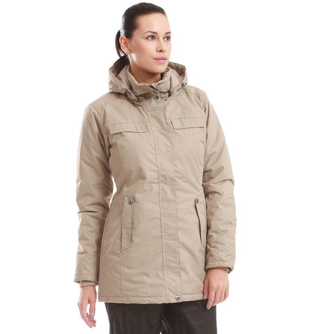 ALPINE PRO EDITE Dámský kabát LCTD006904 shitake M
