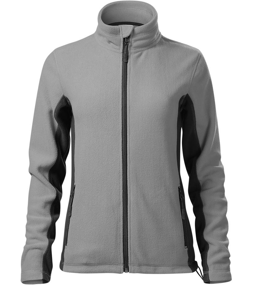 Malfini Frosty Dámská fleece bunda 52824 Světle šedá XXXL