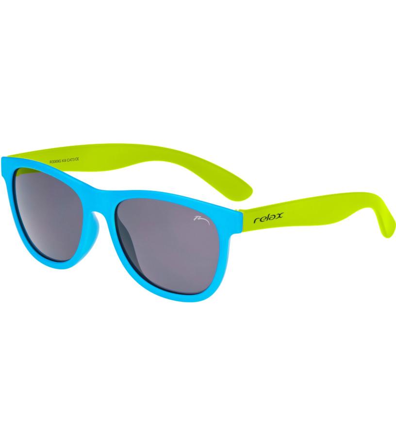 RELAX KILI Dětské sluneční brýle R3069G žlutá 54-56