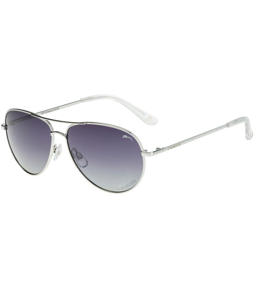 RELAX Decatur Dětské sluneční brýle R3077A stříbrná 20L