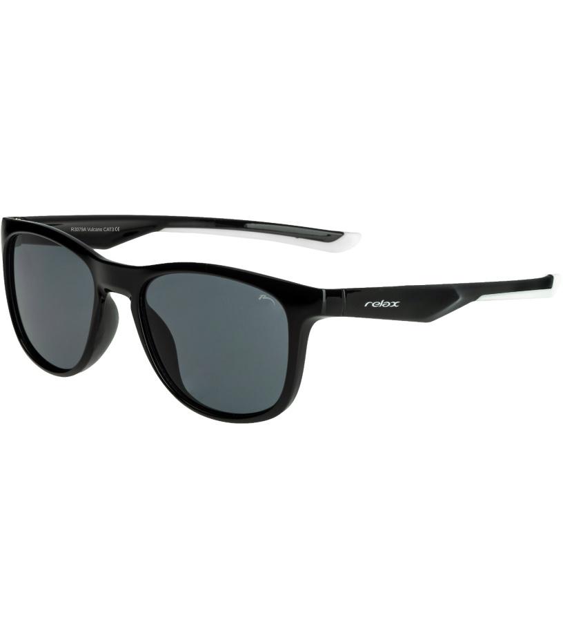 RELAX Vulcano Dětské sluneční brýle R3079A černá 20L