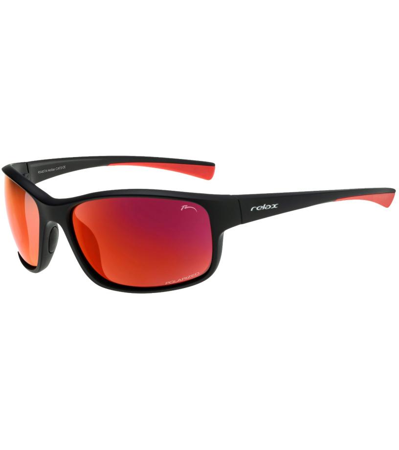 RELAX Helliar Uni sportovní brýle - polarizační R5407A černá 20L