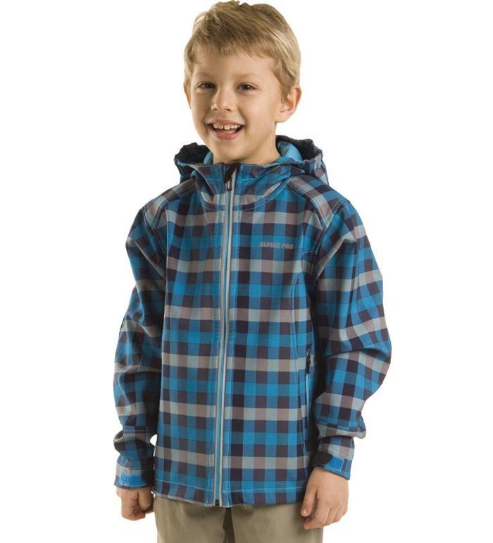 ALPINE PRO LAURIN Dětská softshell bunda KJCA002633 Vivid blue 128-134