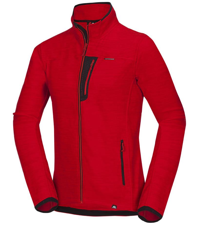 NORTHFINDER JAIME Pánská fleece mikina MI-3352OR360 červená XL b7e7397ad2