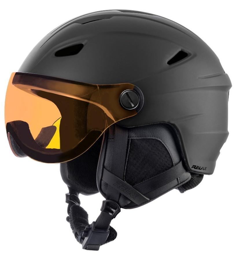 RELAX STEALTH Lyžařská helma RH24A černá S