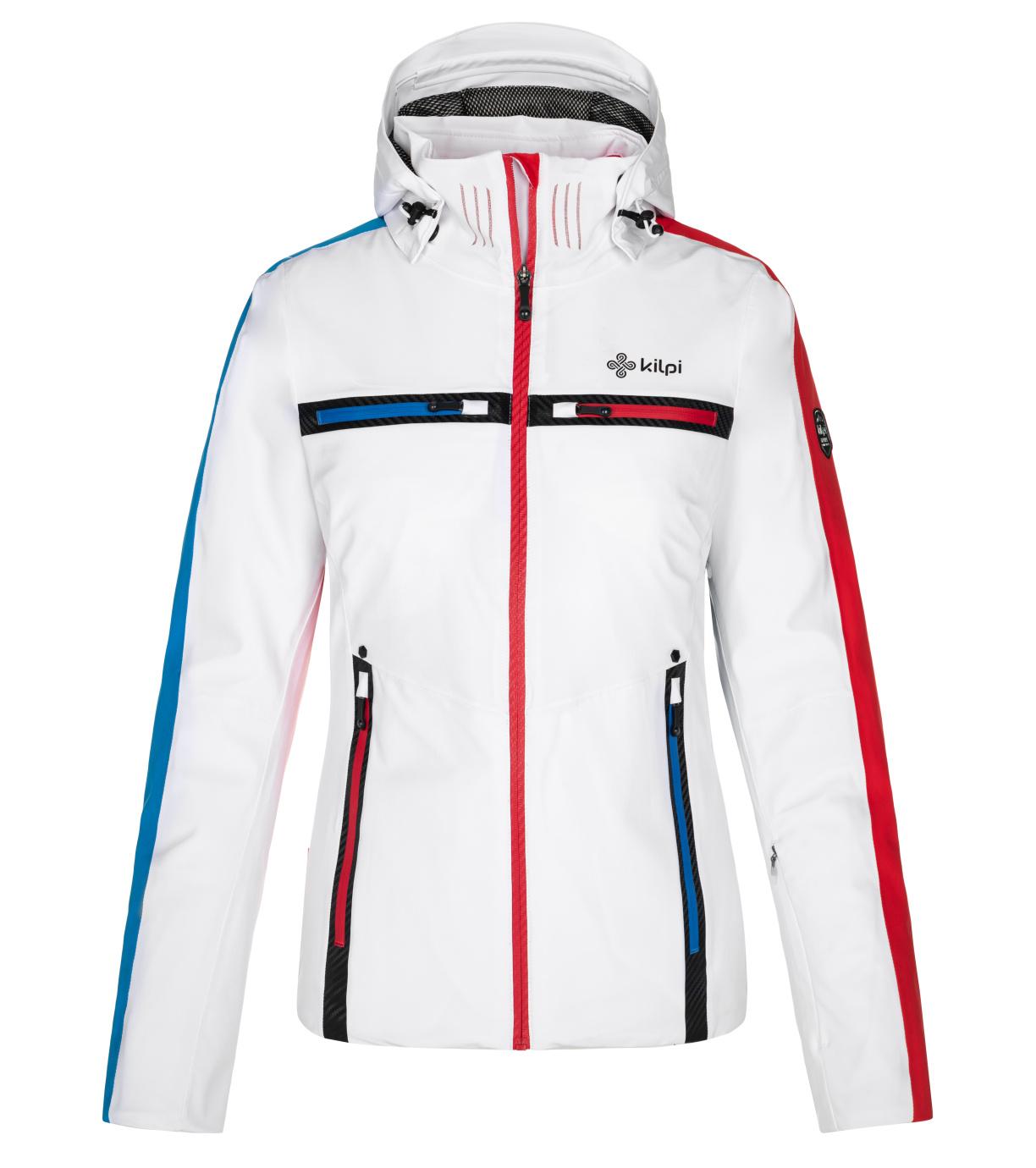 KILPI Dámská lyžařská bunda - větší velikosti HATTORI-W NLX080KIWHT Bílá 48