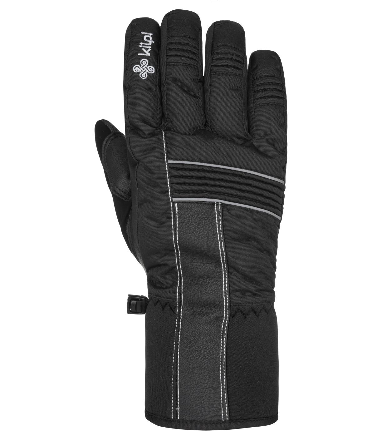 KILPI Unisex lyžařské rukavice GRANT-U NU0021KIBLK Černá M
