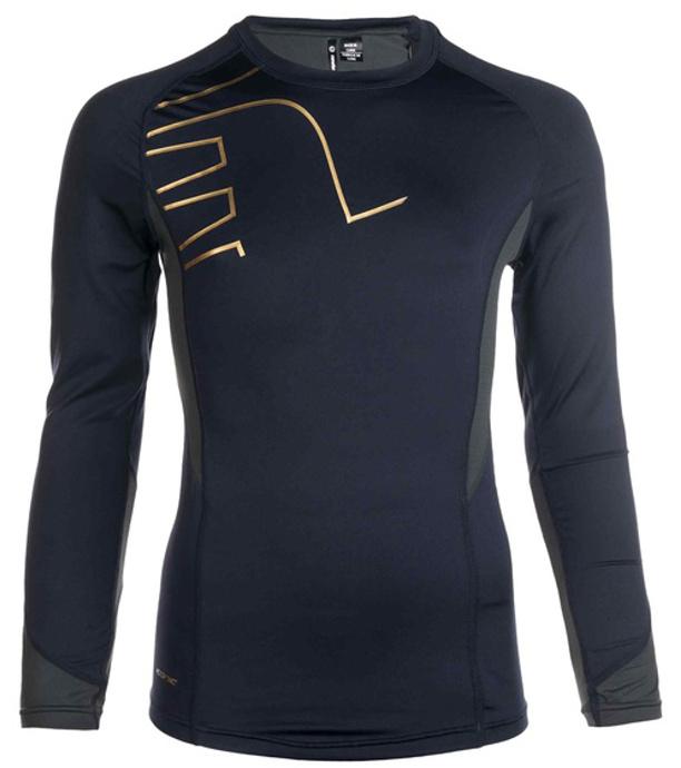 5469f34f9df5 NEWLINE Iconic Pánské běžecké kompresní triko s dlouhým rukávem 11323-618  Tmavě modrá M