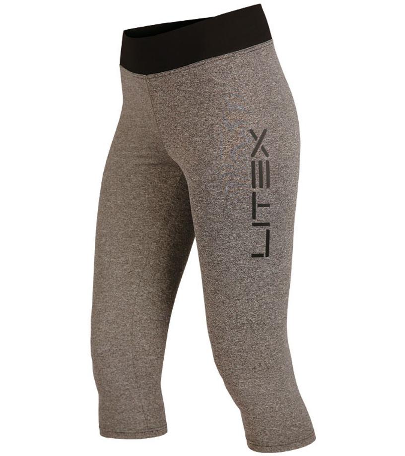 LITEX Legíny dámské v 3 4 délce. 55396114 tmavě šedé melé L 947b02b992