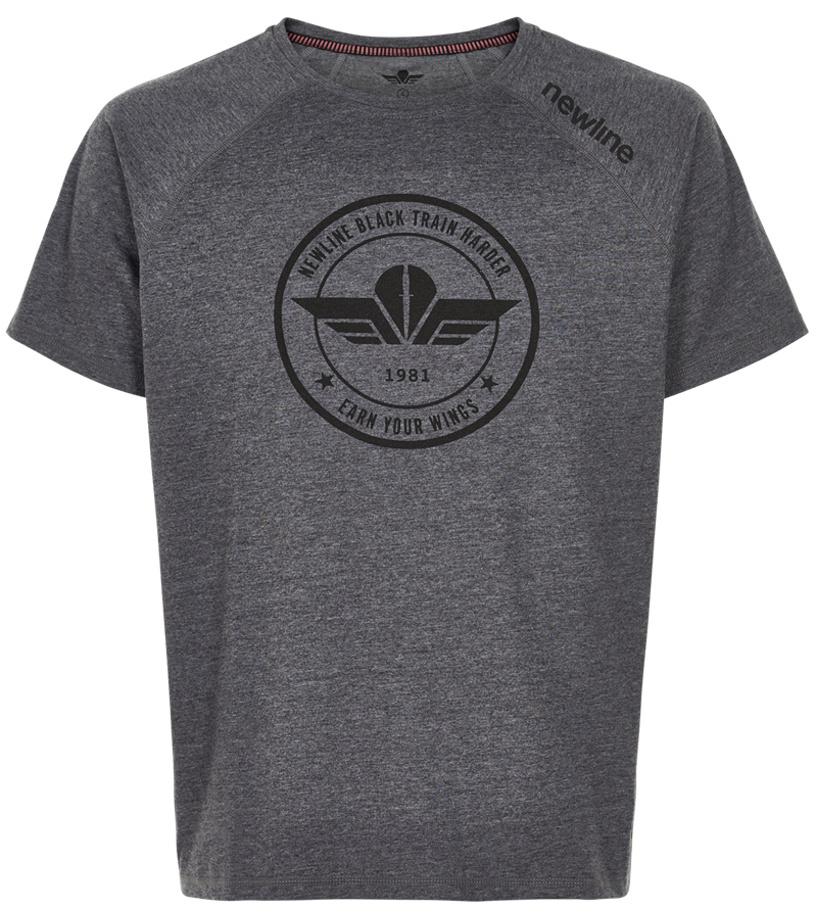 NEWLINE BLACK Pánské běžecké tričko 78327-095 Tmavě šedá