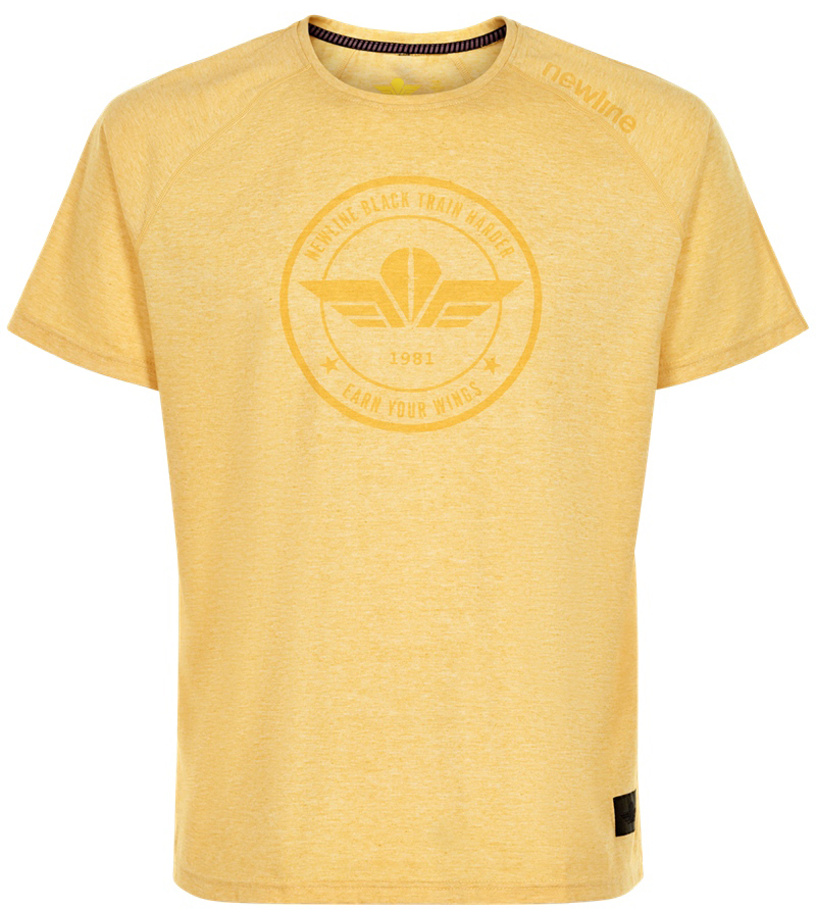 NEWLINE BLACK Pánské běžecké tričko 78327-635 Žlutá