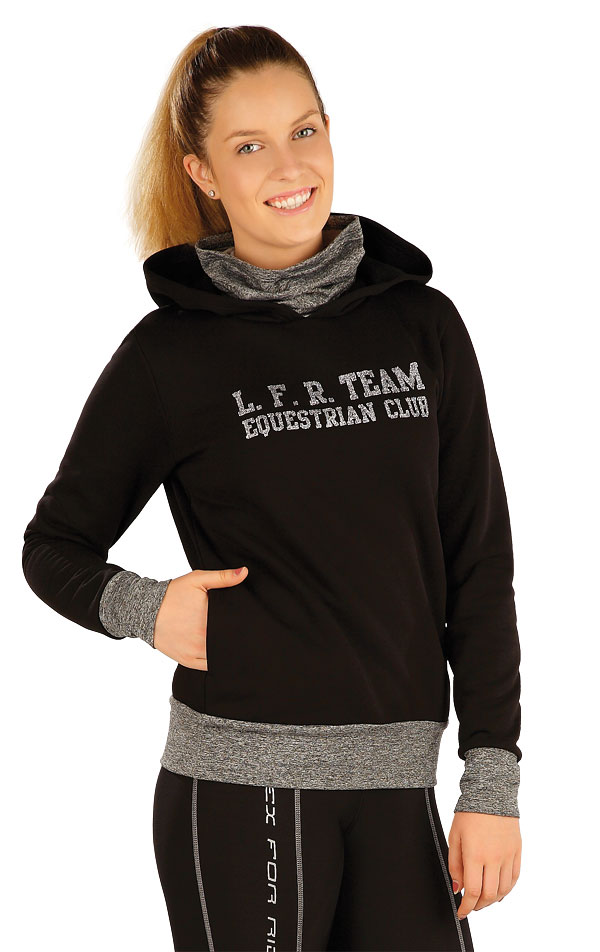 LITEX Mikina dámská s kapucí. J1232901 černá 00e9982b0a