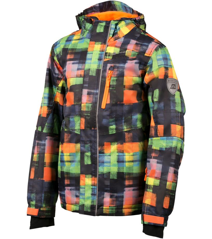 ALPINE PRO MURDO Dětská bunda KJCH048343PA neon pomeranč 116-122