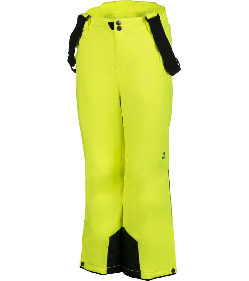 ALPINE PRO NUDDO Dětské kalhoty KPAH053530 reflexní žlutá 104-110