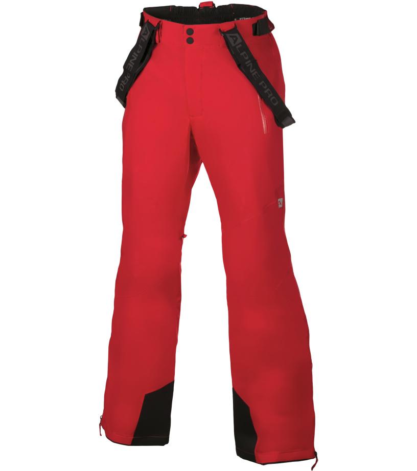 ALPINE PRO MOLINI 2 Pánské lyžařské kalhoty MPAH061475 purpurový plamen L