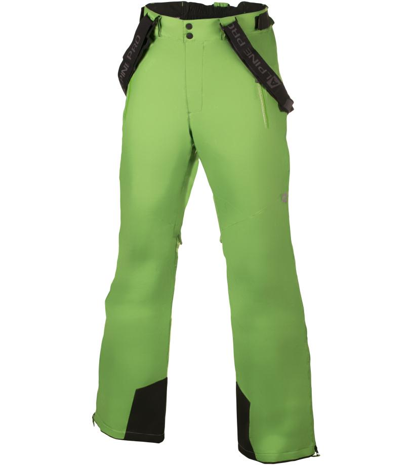 ALPINE PRO MOLINI 2 Pánské lyžařské kalhoty MPAH061528 zelená XS