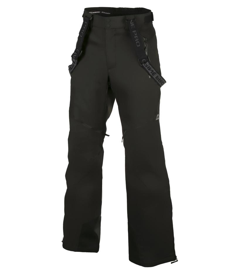 ALPINE PRO MOLINI 2 Pánské lyžařské kalhoty MPAH061990 černá