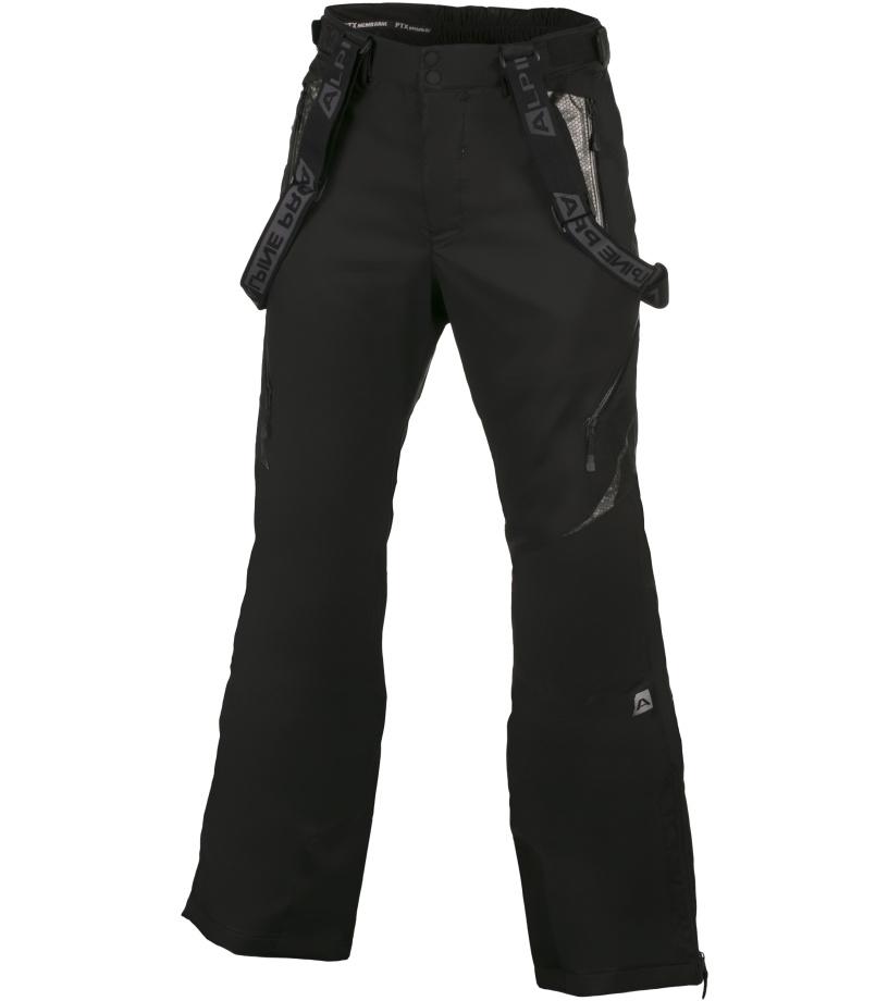 ALPINE PRO NUDD 2 Pánské lyžařské kalhoty MPAH156990 černá L