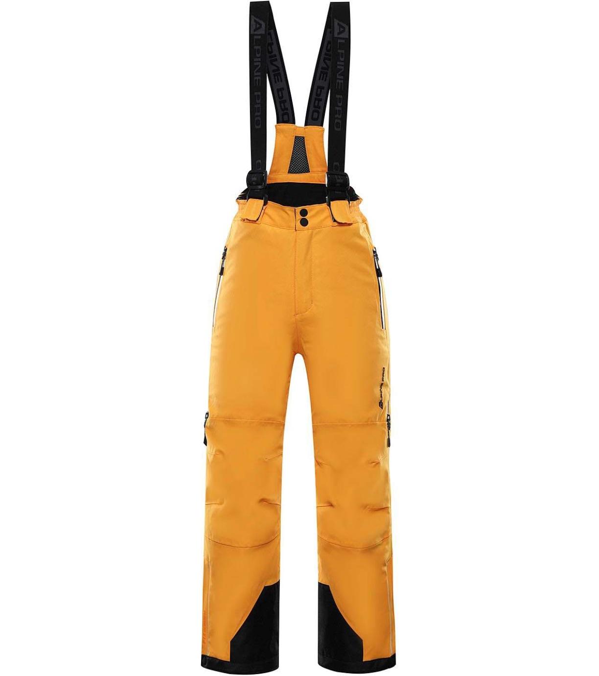 ALPINE PRO NUDDO 5 Dětské lyžařské kalhoty KPAS202231 radiant yellow 128-134