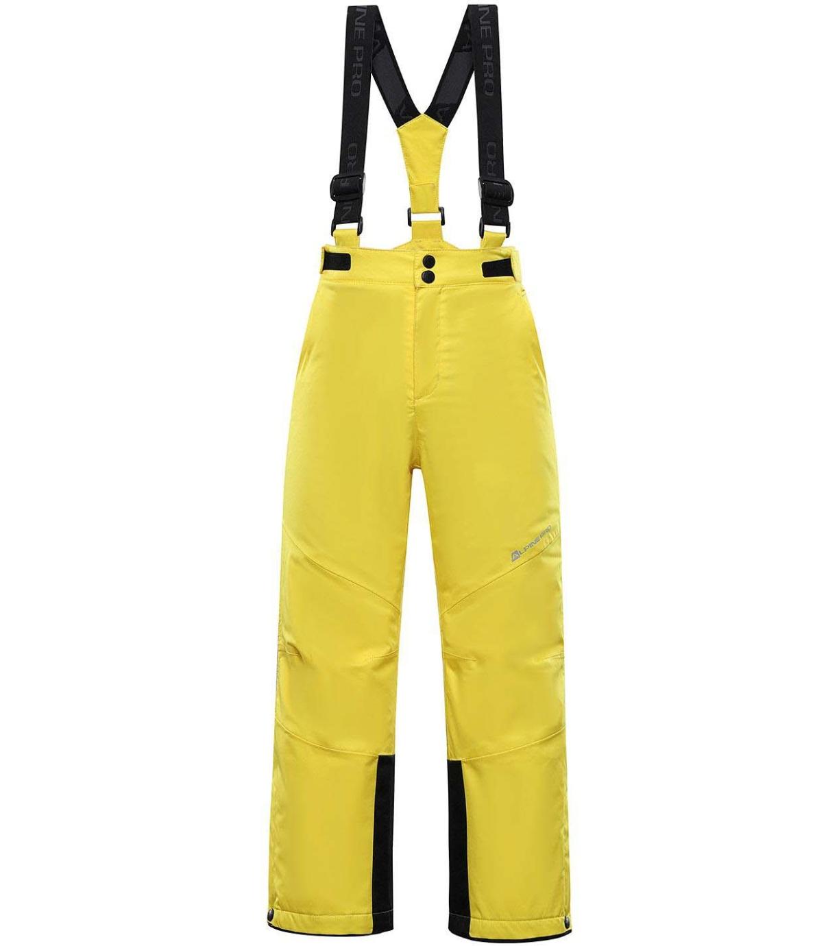 ALPINE PRO ANIKO 4 Dětské lyžařské kalhoty KPAS203224 sytě žlutá 128-134