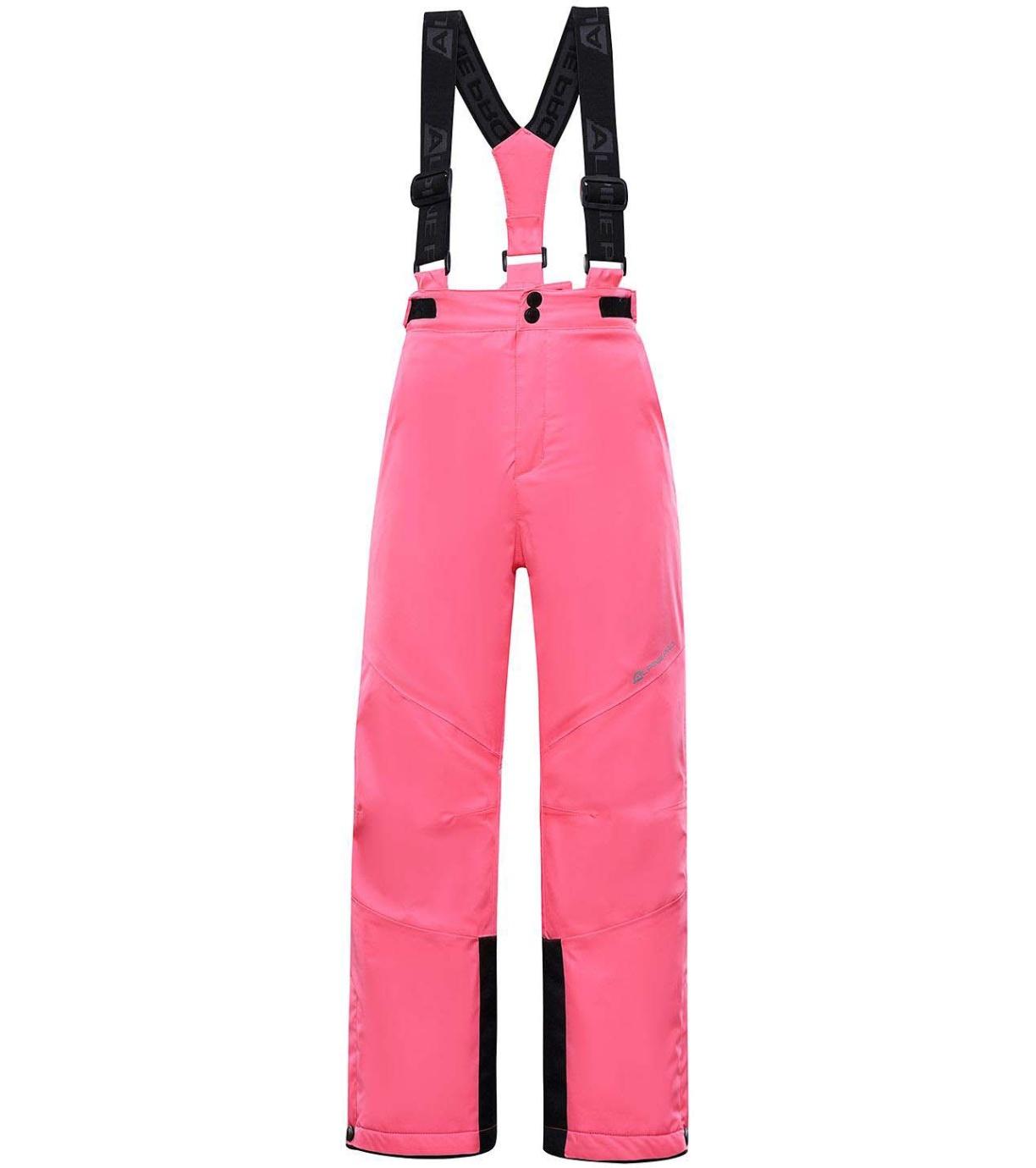 ALPINE PRO ANIKO 4 Dětské lyžařské kalhoty KPAS203452 růžová 128-134