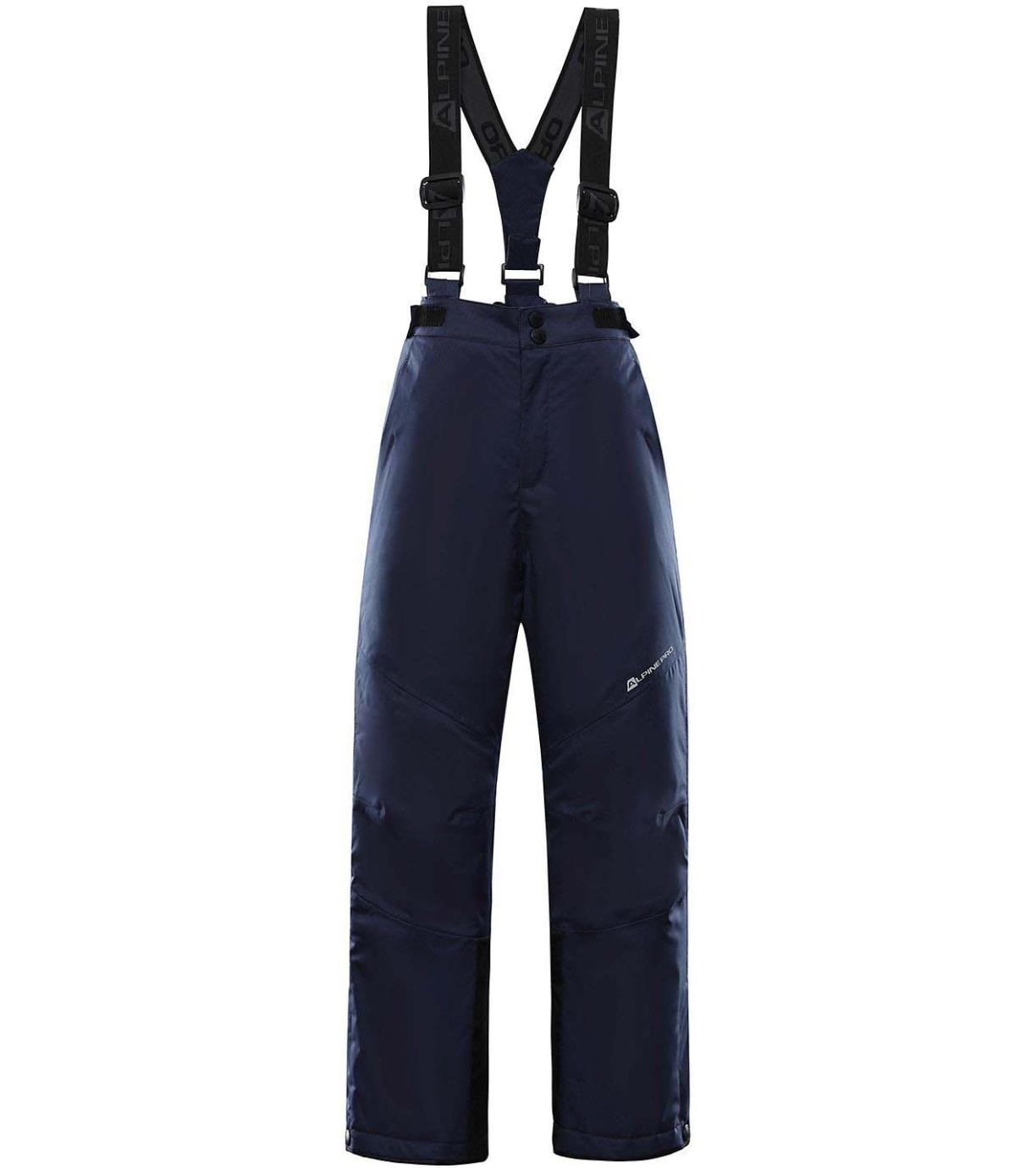 ALPINE PRO ANIKO 4 Dětské lyžařské kalhoty KPAS203602 mood indigo 128-134