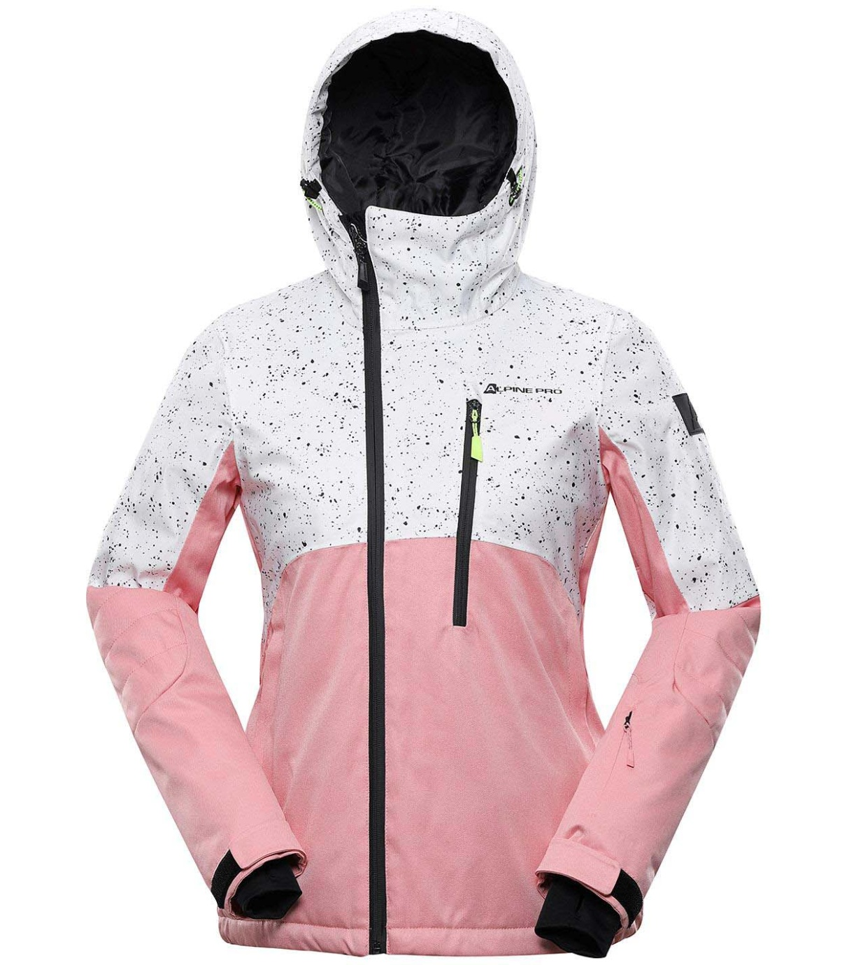 ALPINE PRO MAKERA 2 Dámská lyžařská bunda LJCS424455 pink icing XXL