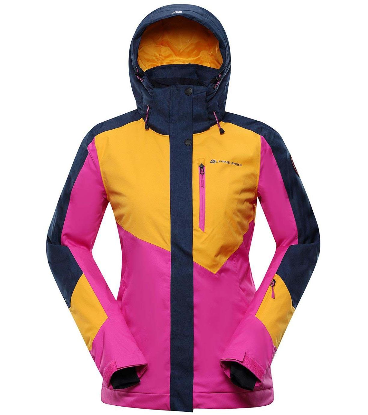 ALPINE PRO SARDARA 4 Dámská lyžařská bunda LJCS425231 radiant yellow S-L