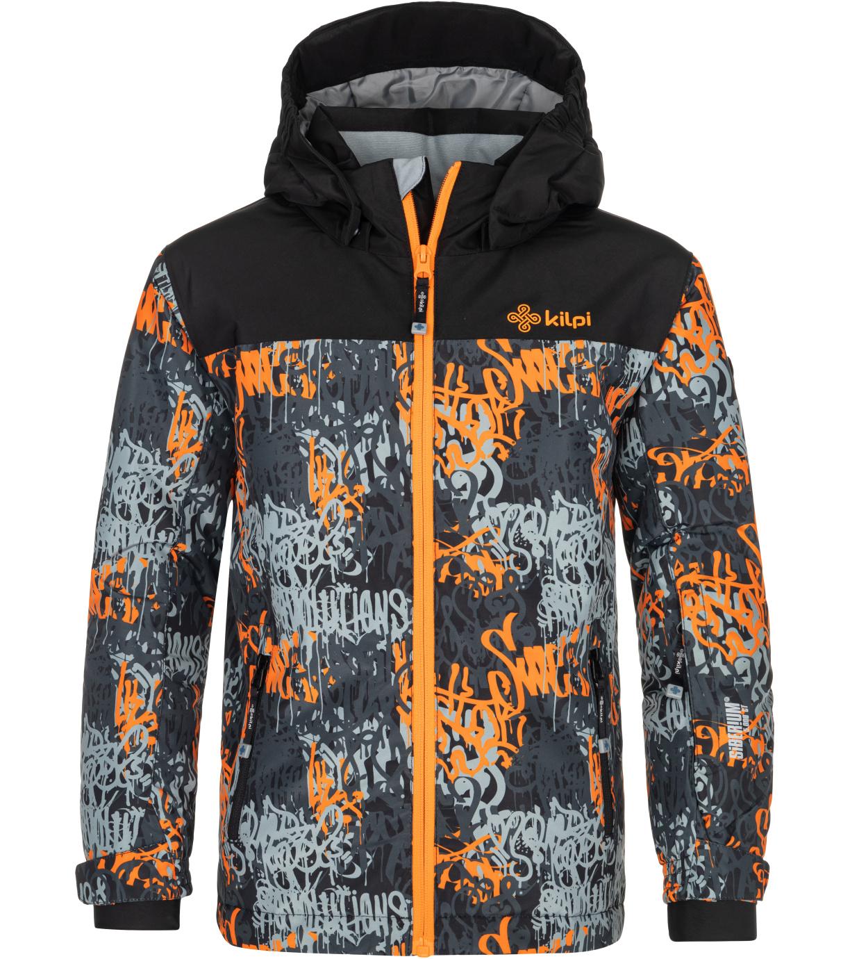 KILPI Chlapecká lyžařská bunda ATENI-JB NJ0003KIORN Oranžová 158