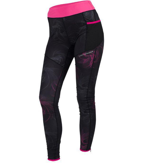 NORTHFINDER CARINA Dámské běžecké kalhoty NO-4265SII278 černá růže