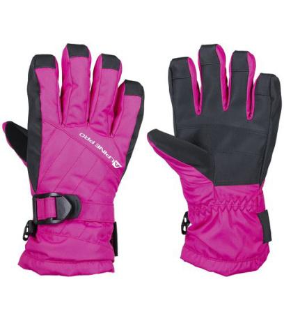 ALPINE PRO RENA Dámské lyžařské rukavice LGLK014411 fuchsiová S
