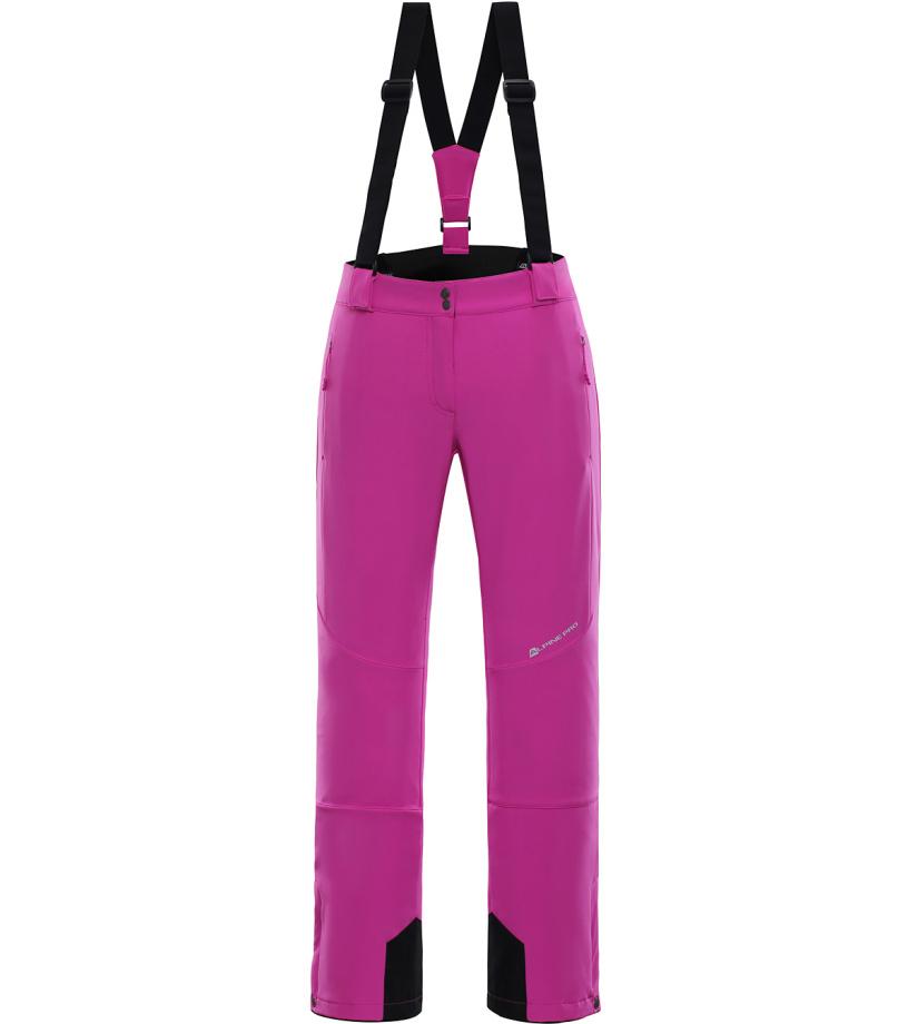 ALPINE PRO NEXA 2 Dámské lyžařské kalhoty LPAK188411 fuchsiová XS