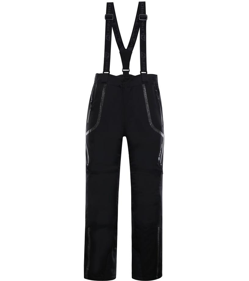 ALPINE PRO NUDD 3 Pánské lyžařské kalhoty MPAK210990 černá S