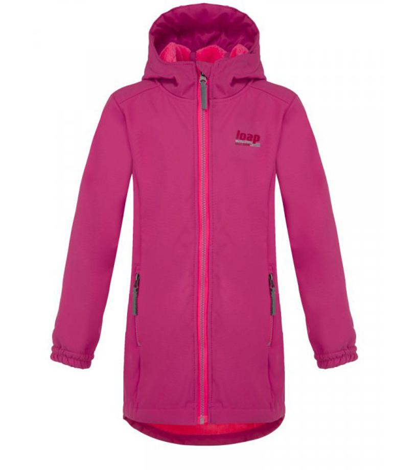 LOAP LAJKA Dětský softshellový kabát L8120J74J růžová 40de7d4336