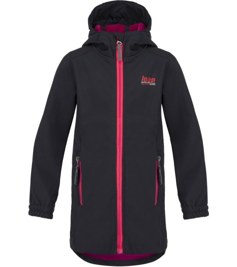 LOAP LAJKA Dětský softshellový kabát L8120V02V Ebony 140