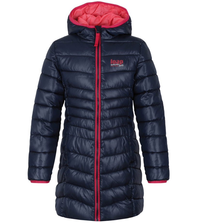 LOAP IKIMA Dětská zimní kabát L8127L11L modrá 164