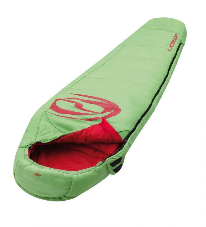 LOAP ORBIT Spací pytel SU1509N85G greenery/red
